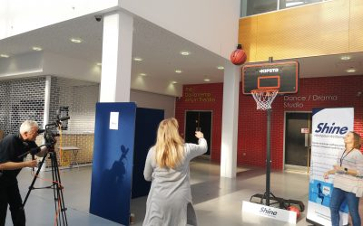 Shooting some hoops at the Chessington EXPO!